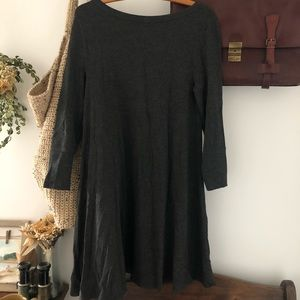 Charcoal gray Lou and grey jersey cotton dress